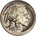 Errors, 1936 Buffalo Nickel -- Off Center -- MS60 ANACS....