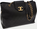 Luxury Accessories:Travel/Trunks, Chanel Black Lambskin Leather Supermodel Jumbo Tote with GoldHardware. ...