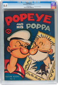 Platinum Age (1897-1937):Miscellaneous, Feature Books #5 Popeye and his Poppa (David McKay Publications,1937) CGC VF 8.0 Off-white pages....