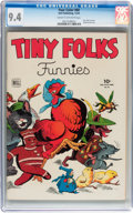 Golden Age (1938-1955):Humor, Four Color #60 Tiny Folks Funnies (Dell, 1944) CGC NM 9.4 Cream to off-white pages....