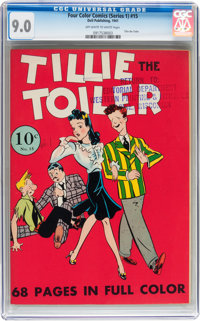 Four Color (Series One) #15 Tillie the Toiler - File Copy (Dell, 1941) CGC VF/NM 9.0 Off-white to white pages
