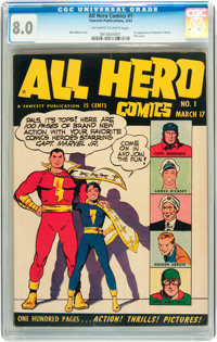 All Hero Comics #1 (Fawcett, 1943) CGC VF 8.0 Off-white to white pages