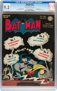 Batman #19 (DC, 1943) CGC NM- 9.2 Off-white to white pages