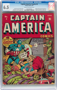 Captain America Comics #4 (Timely, 1941) CGC FN+ 6.5 Cream to off-white pages