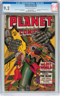 Golden Age (1938-1955):Science Fiction, Planet Comics #64 (Fiction House, 1950) CGC NM- 9.2 Off-white to white pages....