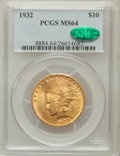 Indian Eagles: , 1932 $10 MS64 PCGS. CAC. PCGS Population (8718/1224). NGC Census:(10530/2510). Mintage: 4,463,000. Numismedia Wsl. Price f...
