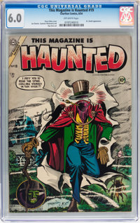 This Magazine Is Haunted #19 (Charlton, 1954) CGC FN 6.0 Off-white pages