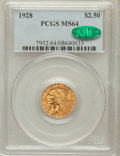 Indian Quarter Eagles: , 1928 $2 1/2 MS64 PCGS. CAC. PCGS Population (1438/297). NGC Census:(2610/447). Mintage: 416,000. Numismedia Wsl. Price for...