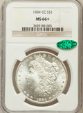 Morgan Dollars, 1884-CC $1 MS66+ NGC. CAC. VAM-3....