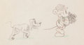 Animation Art:Production Drawing, Puppy Love Mickey Mouse and Pluto Production Drawing (Walt Disney, 1933)....