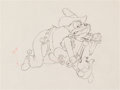 Animation Art:Production Drawing, Two Gun Mickey Pete and Mickey Mouse Production Drawing(Walt Disney, 1934)....