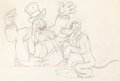 Animation Art:Production Drawing, Society Dog Show Pluto and Dog Show Judge Production Drawing(Walt Disney, 1939)....