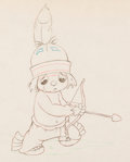 Animation Art:Production Drawing, Little Hiawatha Production Drawing (Walt Disney, 1937)....