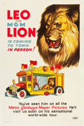 "Movie Posters:Academy Award Winners, Leo the MGM Lion (MGM, 1928) One Sheet (27"" X 41"").. ..."