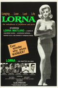 "Movie Posters:Sexploitation, Lorna (Eve Productions, 1964). One Sheet (28"" X 42"") Day-Glo Green Style.. ..."
