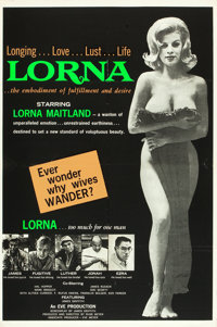 """Lorna (Eve Productions, 1964). One Sheet (28"""" X 42"""") Day-Glo Green Style"""