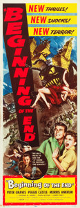 "Movie Posters:Science Fiction, Beginning of the End (Republic, 1957). Insert (14"" X 36"").. ..."