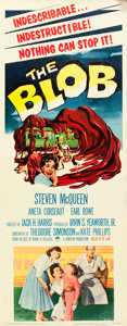 "Movie Posters:Science Fiction, The Blob (Paramount, 1958). Insert (14"" X 36"").. ..."