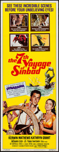 "Movie Posters:Fantasy, The 7th Voyage of Sinbad (Columbia, R-1975). Insert (14"" X 36""). Fantasy.. ..."