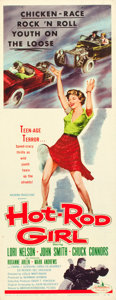 "Movie Posters:Bad Girl, Hot Rod Girl (American International, 1956). Insert (14"" X 36"")....."