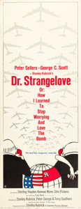 """Movie Posters:Comedy, Dr. Strangelove or: How I Learned to Stop Worrying and Love theBomb (Columbia, 1964). Insert (14"""" X 36"""").. ..."""