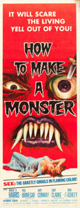 "Movie Posters:Horror, How to Make a Monster (American International, 1958). Insert (14"" X 36"").. ..."