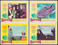 "Movie Posters:Action, Batman (20th Century Fox, 1966). Lobby Cards (4) (11"" X 14"").Action.. ... (Total: 4 Items)"