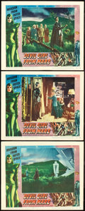 """Movie Posters:Science Fiction, Devil Girl from Mars (Spartan, 1955). Lobby Cards (3) (11"""" X 14"""")..... (Total: 3 Items)"""