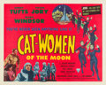 "Movie Posters:Science Fiction, Cat-Women of the Moon (Astor Pictures, 1954). Half Sheet (22"" X28"") From the collection of Wade Williams. .. ..."
