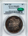 Morgan Dollars: , 1878 7TF $1 Reverse of 1878 MS64 Prooflike PCGS. CAC. PCGSPopulation (171/36). NGC Census: (240/28). Numismedia Wsl. Pric...