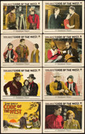 "Movie Posters:Western, Code of the West (Paramount, 1925). Lobby Card Set of 8 (11"" X14"").. ... (Total: 8 Items)"