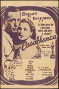 "Movie Posters:Academy Award Winners, Casablanca (Warner Brothers, R-1972). 30th Anniversary One Sheet(27"" X 41""). Academy Award Winners.. ..."