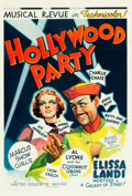 "Movie Posters:Comedy, Hollywood Party (MGM, 1937). One Sheet (27"" X 41"").. ..."