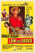 "Movie Posters:Western, Law and Order (Universal International, 1953). One Sheet (27"" X41""). Western.. ..."