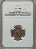 Indian Cents, 1877 1C XF45 NGC....