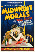 """Movie Posters:Crime, Midnight Morals (Mayfair Pictures, 1932). One Sheet (27"""" X 41"""")....."""