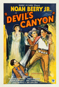 "Movie Posters:Western, Devil's Canyon (Sunset Productions, 1935). One Sheet (27"" X 41"").. ..."