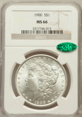 Morgan Dollars: , 1900 $1 MS66 NGC. CAC. NGC Census: (555/40). PCGS Population(561/23). Mintage: 8,830,912. Numismedia Wsl. Price for proble...