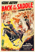 """Movie Posters:Western, Back in the Saddle (Republic, 1941). One Sheet (27"""" X 41"""").. ..."""