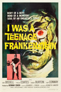 "Movie Posters:Horror, I Was a Teenage Frankenstein (American International, 1957). One Sheet (27"" X 40.5"").. ..."
