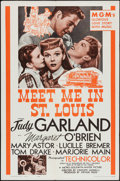 """Movie Posters:Musical, Meet Me in St. Louis (MGM, R-1962). One Sheet (27"""" X 41""""). Musical.. ..."""