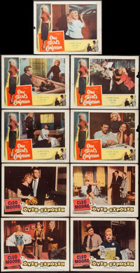 "Over-Exposed and Other Lot (Columbia, 1956). Lobby Cards (9) (11"" X 14""). Bad Girl. ... (Total: 9 Items)"
