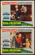 "Movie Posters:Adventure, River of No Return (20th Century Fox, 1954). Lobby Cards (2) (11"" X14""). Adventure.. ... (Total: 2 Items)"