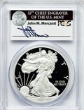 Modern Bullion Coins, 2012-W $1 One Ounce Silver Eagle Insert autographed By John M.Mercanti,12th Chief Engraver of the U.S. Mint, First Strike PR...