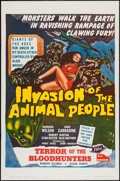 """Movie Posters:Science Fiction, Invasion of the Animal People (A.D.P., 1962). One Sheet (27"""" X41""""). Science Fiction.. ..."""