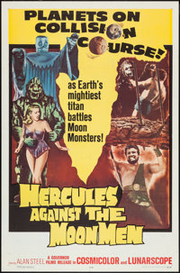"Hercules Against the Moon Men (Governor Films, 1965). One Sheet (27"" X 41"") and Lobby Card Set of 8 (11""..."