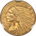 Indian Half Eagles: , 1915 $5 MS62+ NGC. NGC Census: (1724/1181). PCGS Population(1305/1316). Mintage: 588,075. Numismedia Wsl. Price for proble...