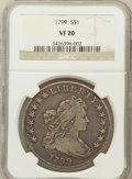 Early Dollars, 1799 $1 7x6 Stars VF20 NGC. NGC Census: (94/1365). PCGS Population(242/1949). Mintage: 423,515. Numismedia Wsl. Price for ...