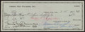 Football Collectibles:Others, 1960 Vince Lombardi Signed Check. ...