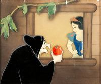 Snow White and the Seven Dwarfs Snow White and the Old Hag Production Cel Set-Up (Walt Disney Studios, 1937)